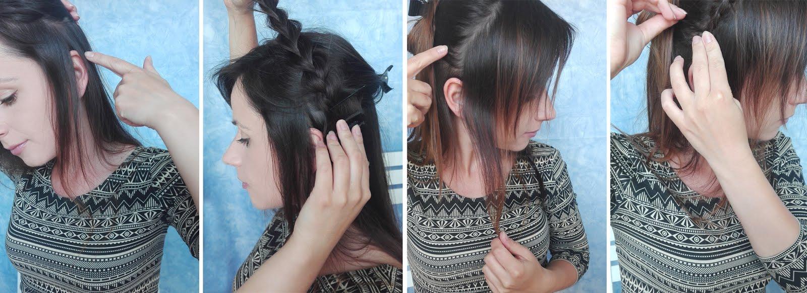 Fryzura Dla Cienkich Włosów Z Oszukanym Warkoczem Hair By Jul