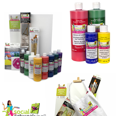 Giveaway | Art Party Ideas & Supplies