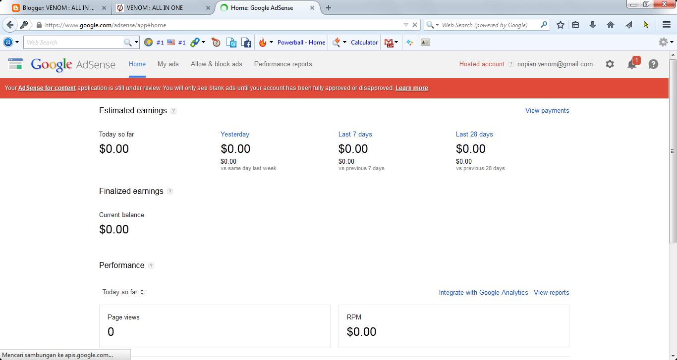 Review Pertama Google Adsense