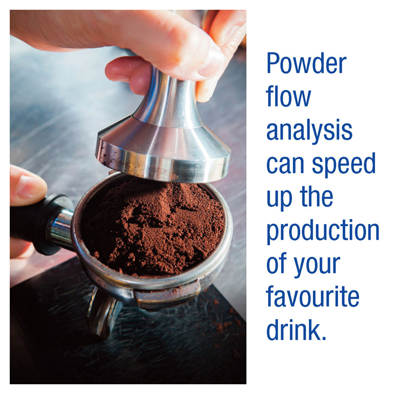 Powder Flow Analysis can speed up production of your favourite drink