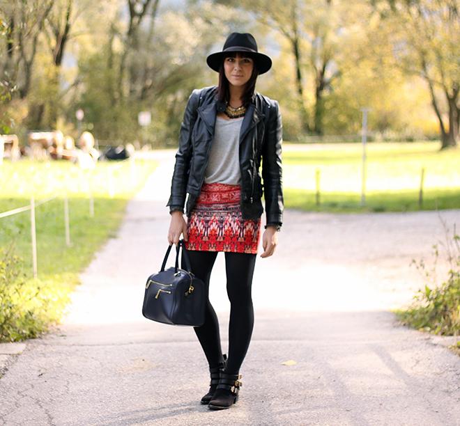 Outfit: Boho-Azteken Rock Von H&M