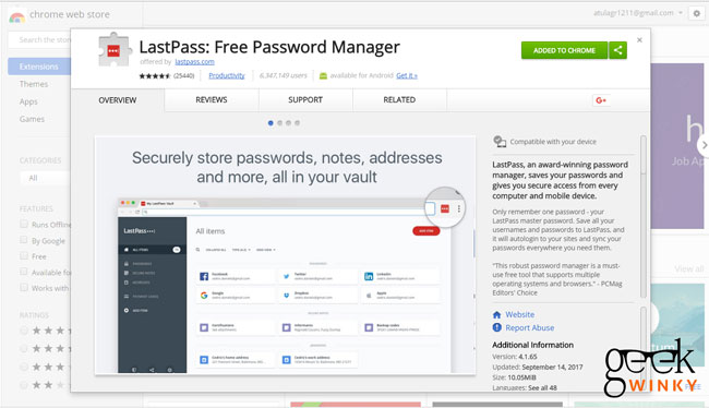 LastPass | Best 10 Google Chrome Extension You Must Have