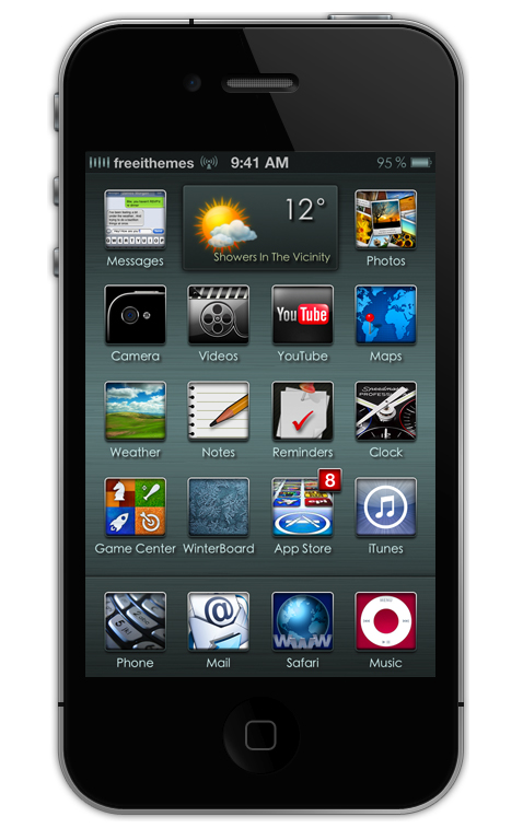 equix iphone 4s theme
