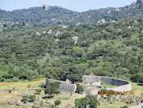 The Great Enclosure of Greater Zimbabwe from the Hilltop Fortress, Zimbabwe