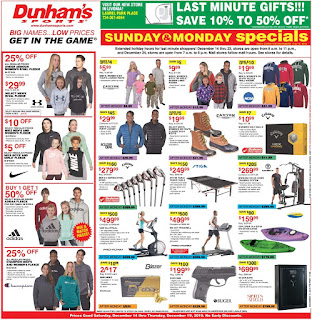⭐ Dunhams Ad 12/14/19 ⭐ Dunhams Sports Weekly Ad December 14 2019