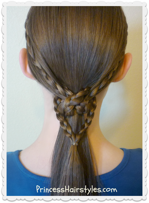 2 Easy Heart Knot Ponytails Valentine S Day Hairstyles