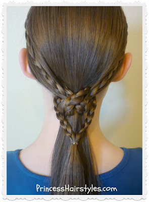 Heart knot hairstyle tutorial. Easy!