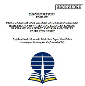 Laporan PKP UT PGSD Matematika