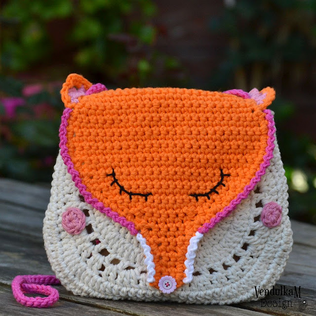 Fox purse pattern by Vendulka Maderska