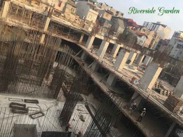 Tiến độ xây dựng chung cư Riverside Garden