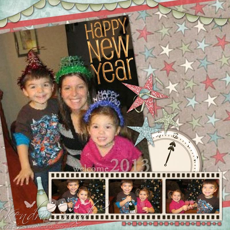 Luv 2 Scrap N' Make Cards: Happy New Year