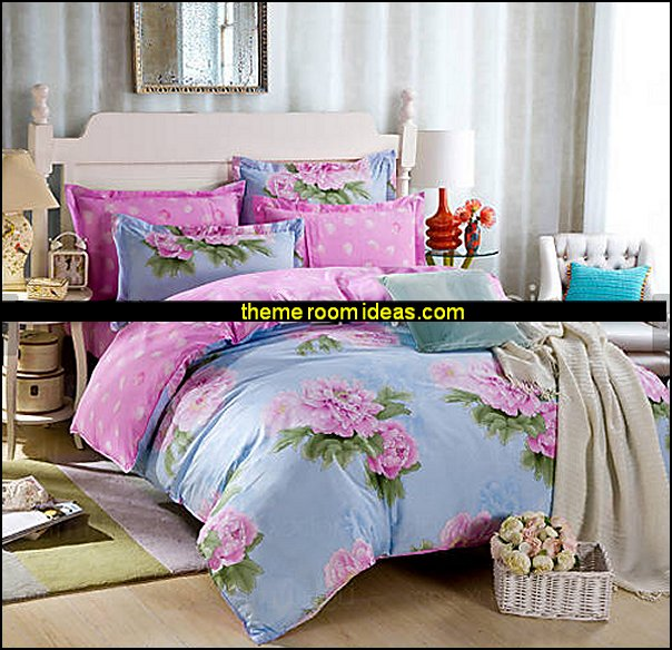 Flowers Duvet Cover  floral bedding - flowers pillows - floral duvet covers - Floral Bedding Sets - flower theme bedding - Floral Print Bedding