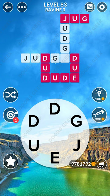 Wordscapes Level 83 answers, cheats, solution for android and ios devices.