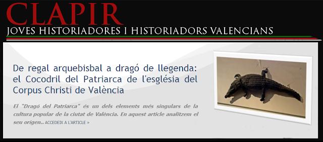 https://www.academia.edu/13000213/De_regal_arquebisbal_a_drag%C3%B3_de_llegenda_el_Cocodril_del_Patriarca_de_lesgl%C3%A9sia_del_Corpus_Christi_de_Val%C3%A8ncia