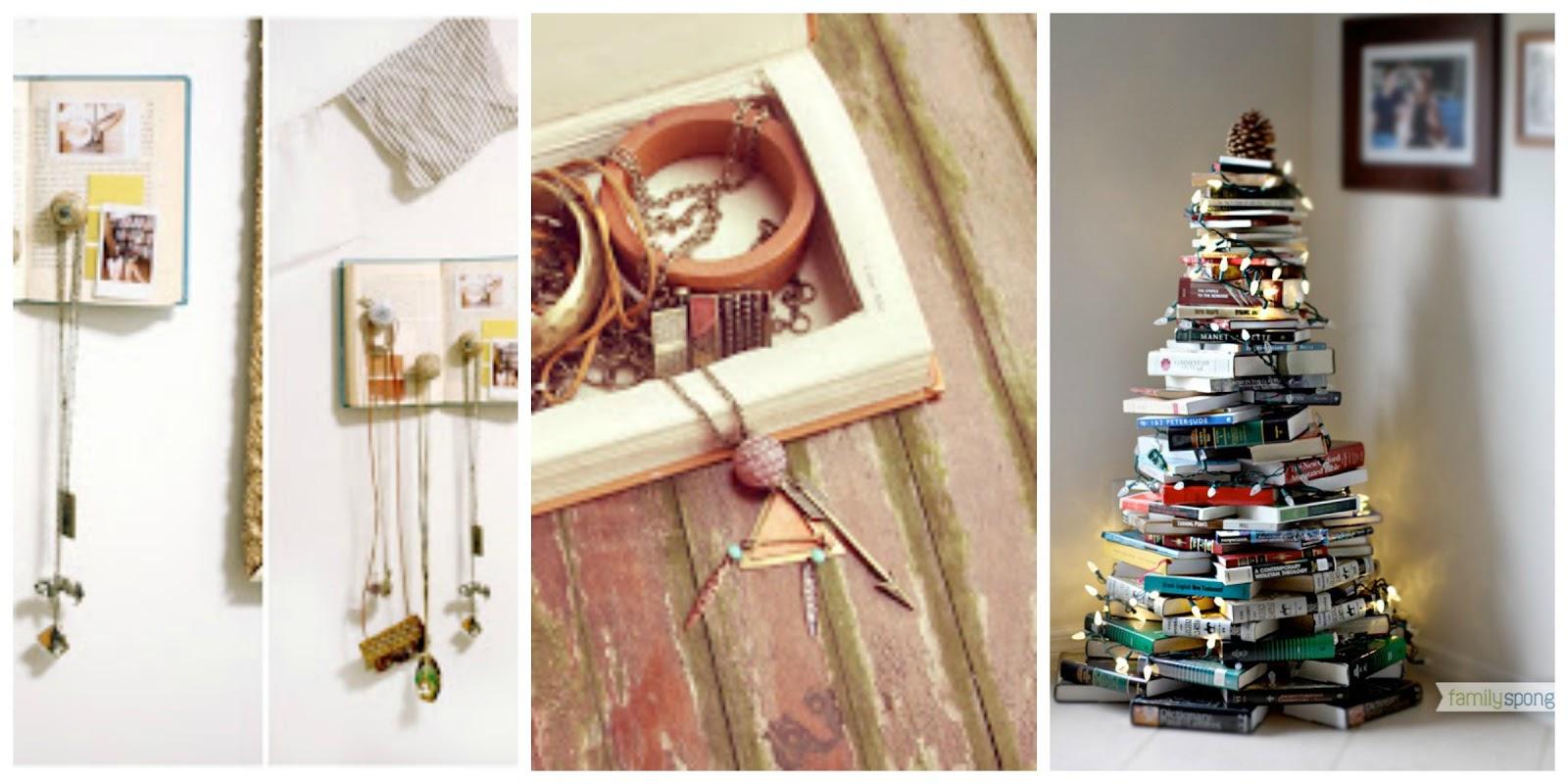 riciclare vecchi libri per creare nuovi oggetti