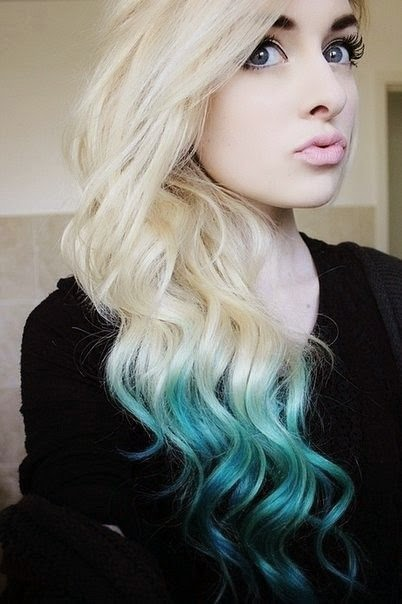 Blue ombre hair... think the honor code would disapprove? ;)