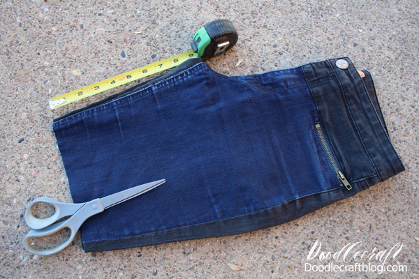 Upcycled pants into bermuda shorts perfect for Summertime.