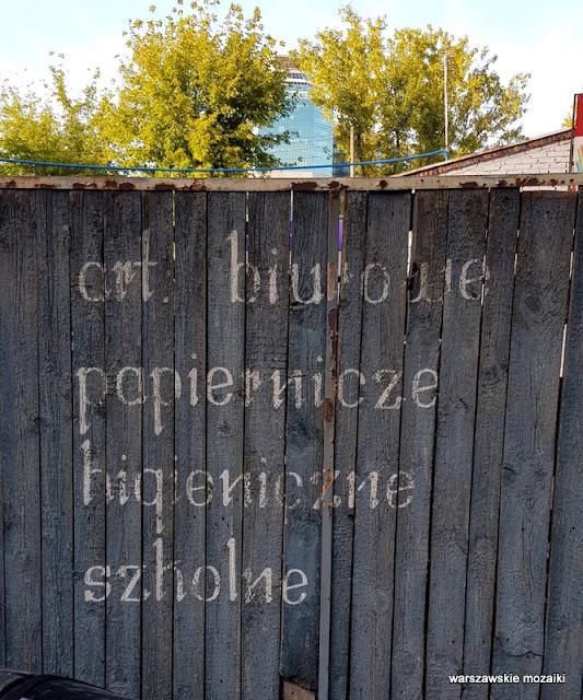 Warszawa Warsaw szyld tabliczka napis retro