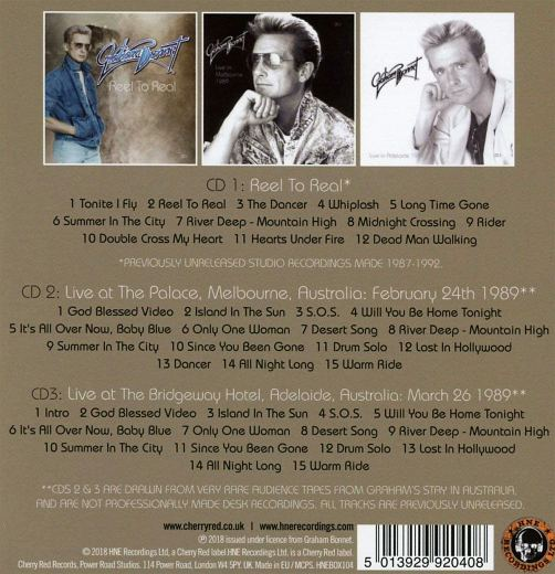 GRAHAM BONNET - Reel To Real - The Archives [3-CD Unreleased Remastered Box Set] back