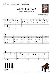 ode to joy beethoven easy sheet music download printable free adult kids