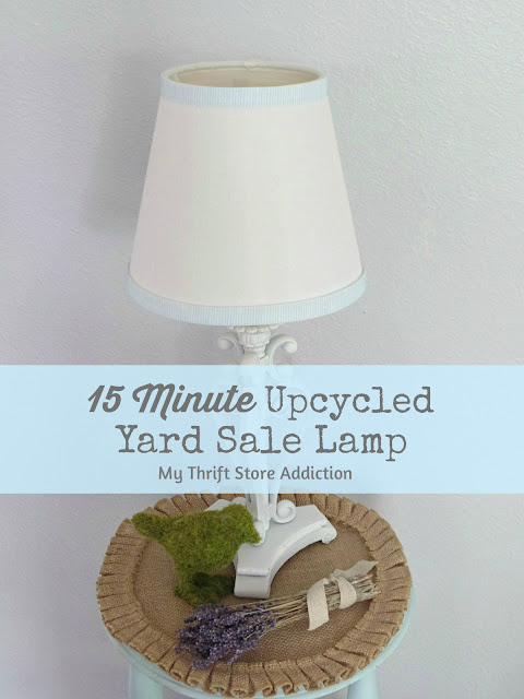 15 minute yard sale lamp upcycle
