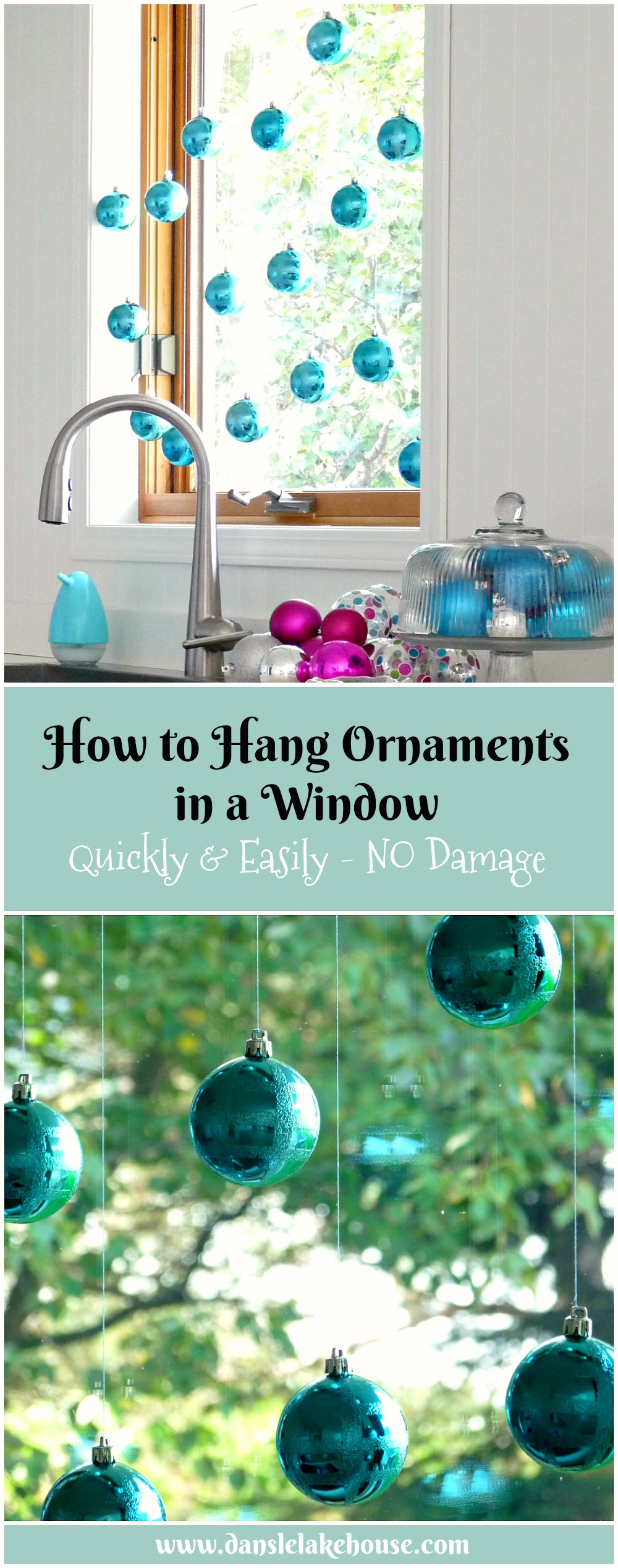 How to Hang Ornaments in a Window