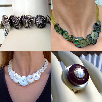 Handmade Button Jewelry Craft Ideas And Art Projects