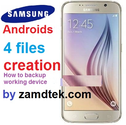 How to create samsung 4 file combination firmware