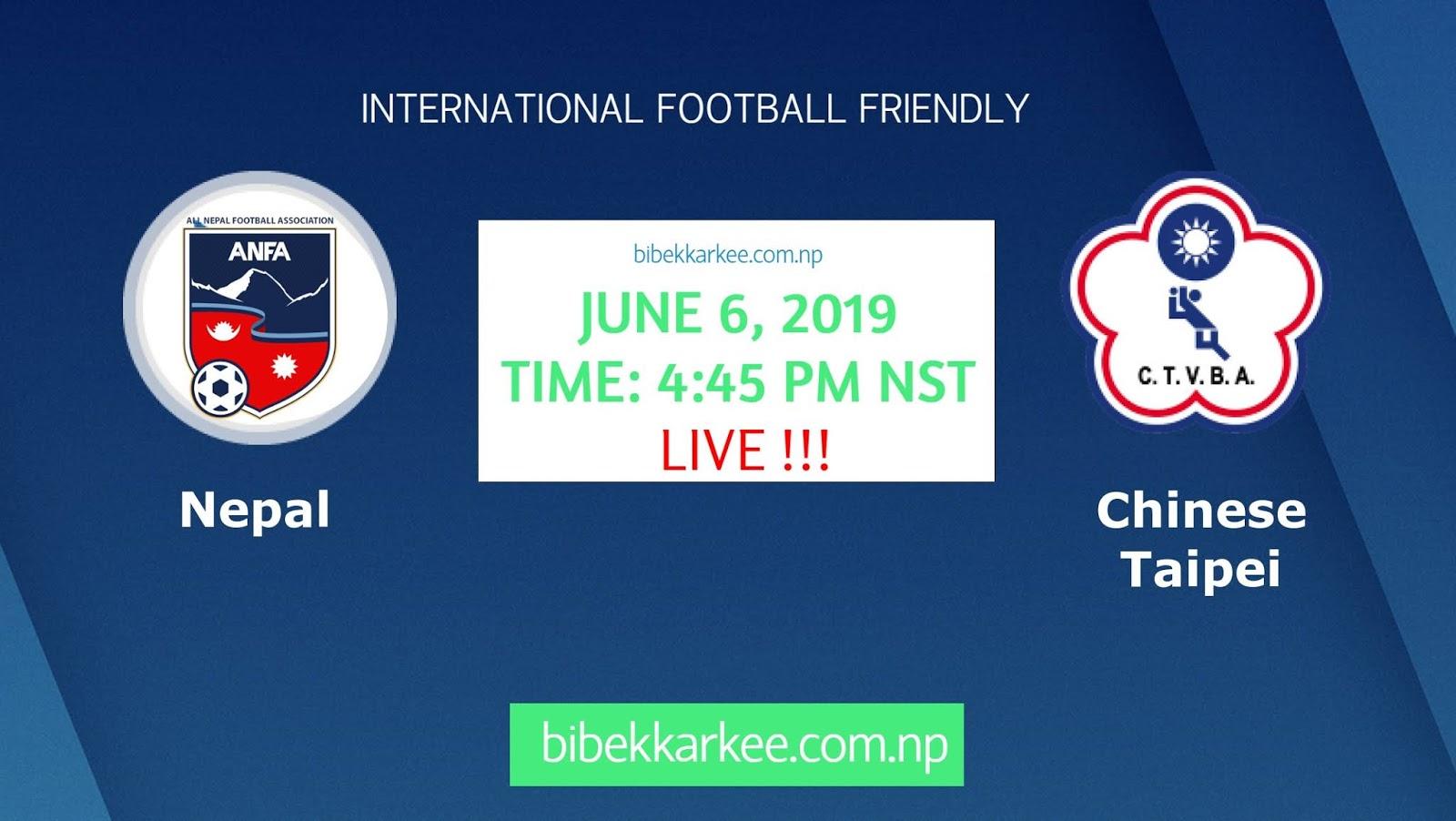 Watch Live Nepal vs Chinese Taipei June 06 | Football Friendly
