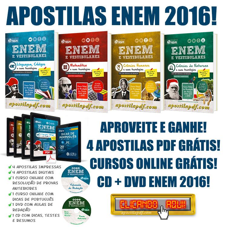 Apostila ENEM 2016 PDF Grátis Download Impressa