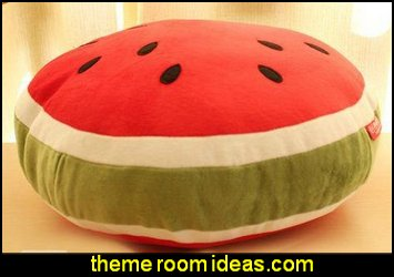 Watermelon  Pillow  kitchen accessories - fun kitchen decor - decorative themed kitchen  - novelty mugs - kitchen wall decals - kitchen wall quotes - cool stuff to buy - kitchen cupboard contact paper -  kitchen storage ideas - unique kitchen gadgets - food pillows