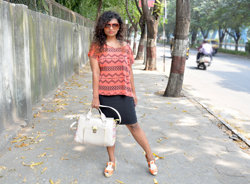 how to wear orange top india