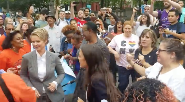 VIDEO: Ocasio-Cortez, Dem candidates dance their cares away; Nixon shakes chest as women cheer