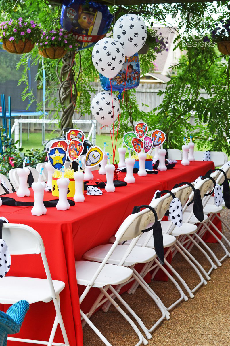 Greygrey Designs My Parties Paw Patrol Party