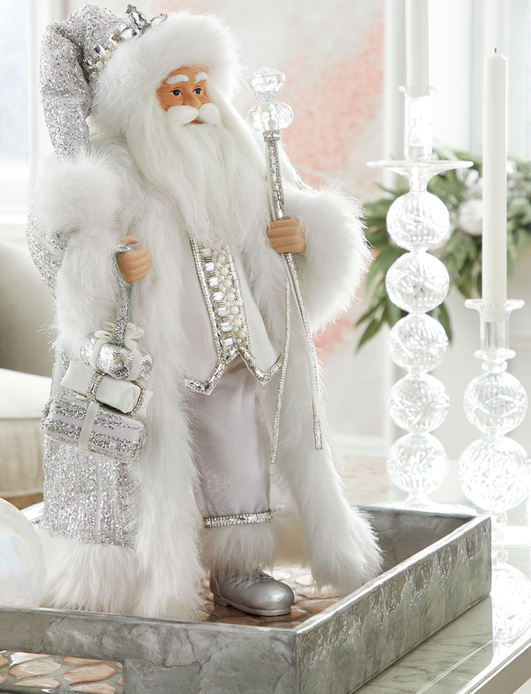 Crystal Christmas Santa, 19""