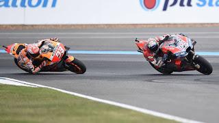 MOTO GP - Márquez le gana la partida a Dovizioso en Tailandia y se pone a un paso del Mundial