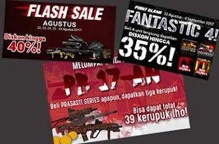 Promo PB Garena Terbaru Senjata Seri Prasasti Hadiah Kerupuk, Gacha harga Murah  dan Flash Sale 20% Agustus