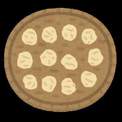 料理の「干す」のイラスト