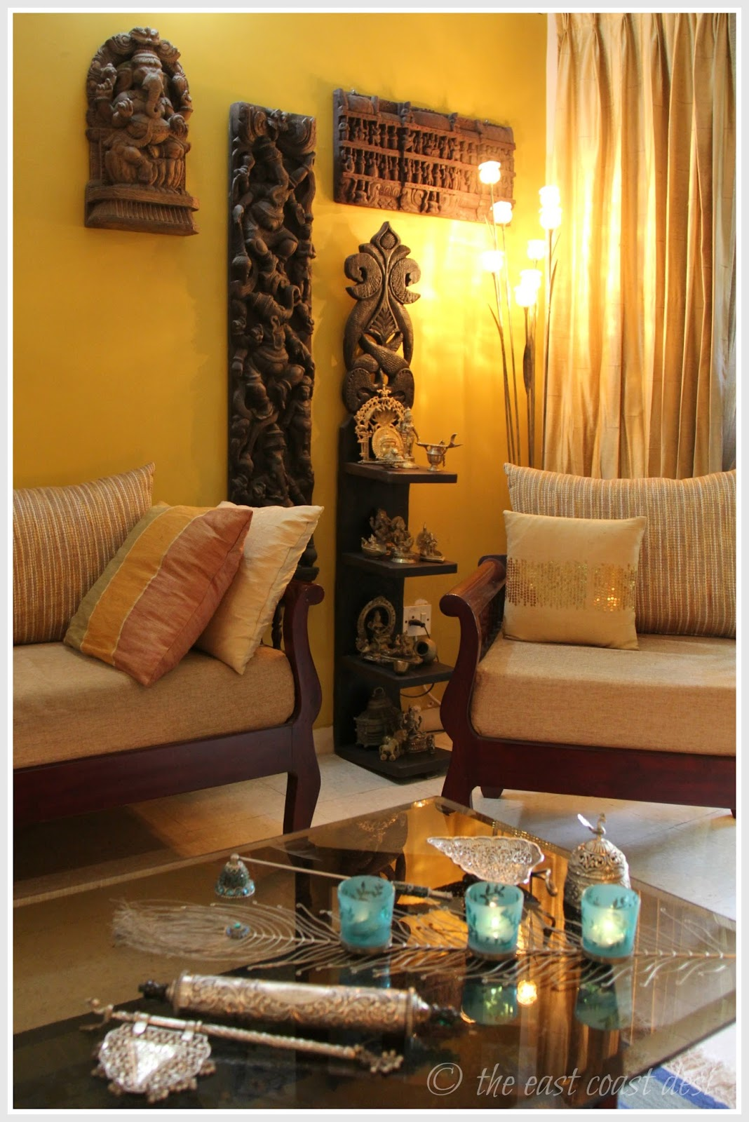 The east coast desi living with what you love home tour for Interior designs in india