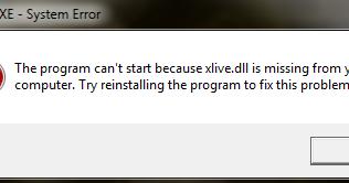 Xlive dll Error Fix حل مشكلة خطأ ملف Xlive dll في الألعاب