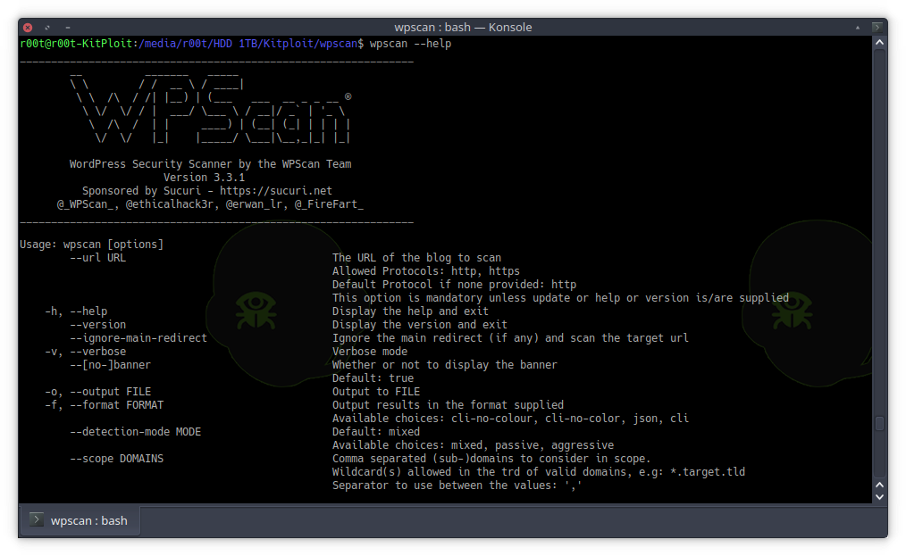 WPScan v3 3 1 - Black Box WordPress Vulnerability Scanner