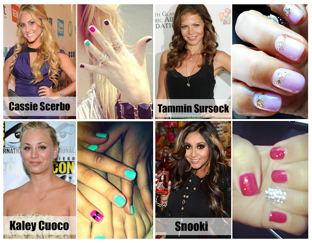 celebrities nail arts