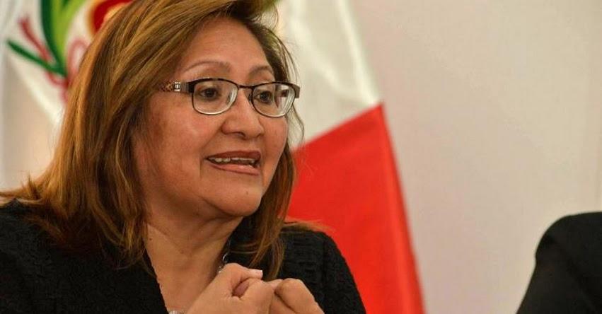 Huelga de maestros está politizada, afirma ministra de la Mujer Ana Maria Choquehuanca