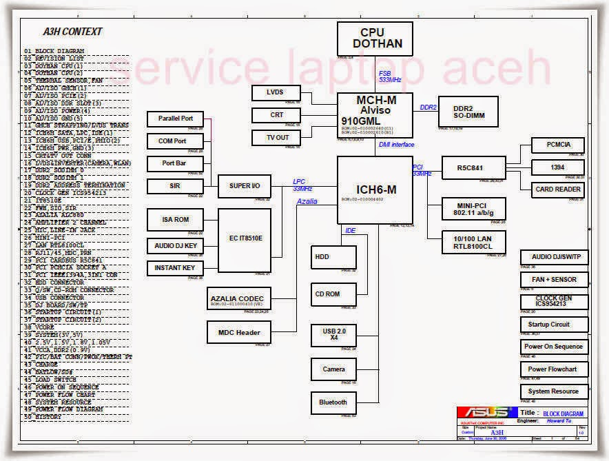Schematic Asus A3H
