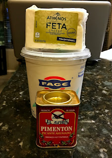 Ingredients for Feta-Yogurt Sauce for Lentil Tacos