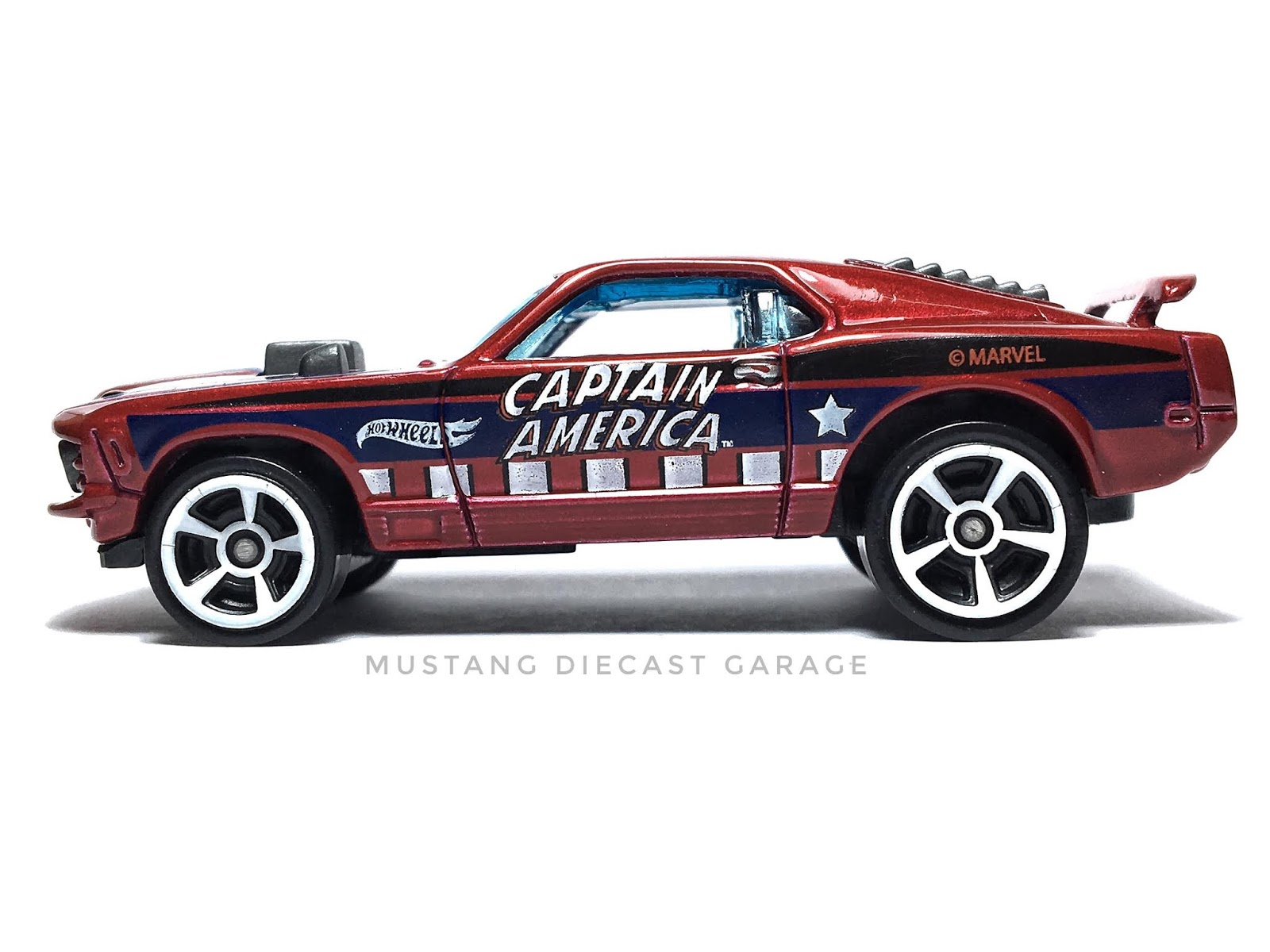 Hot Wheels 70 Ford Mustang Mach 1 Series 2016 Captain America Exclusive ส เล อดหม 64