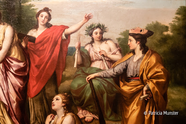 Detail of 4 muses of the painting Parnassus by Anton Raphael Mengs