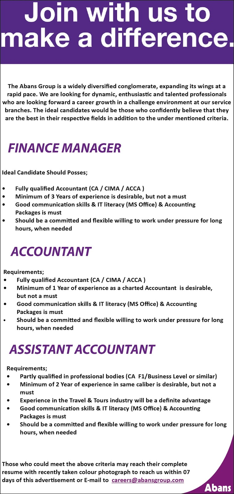 sri lanka vacancies latest vacancies career opportunities careers abansgroup com