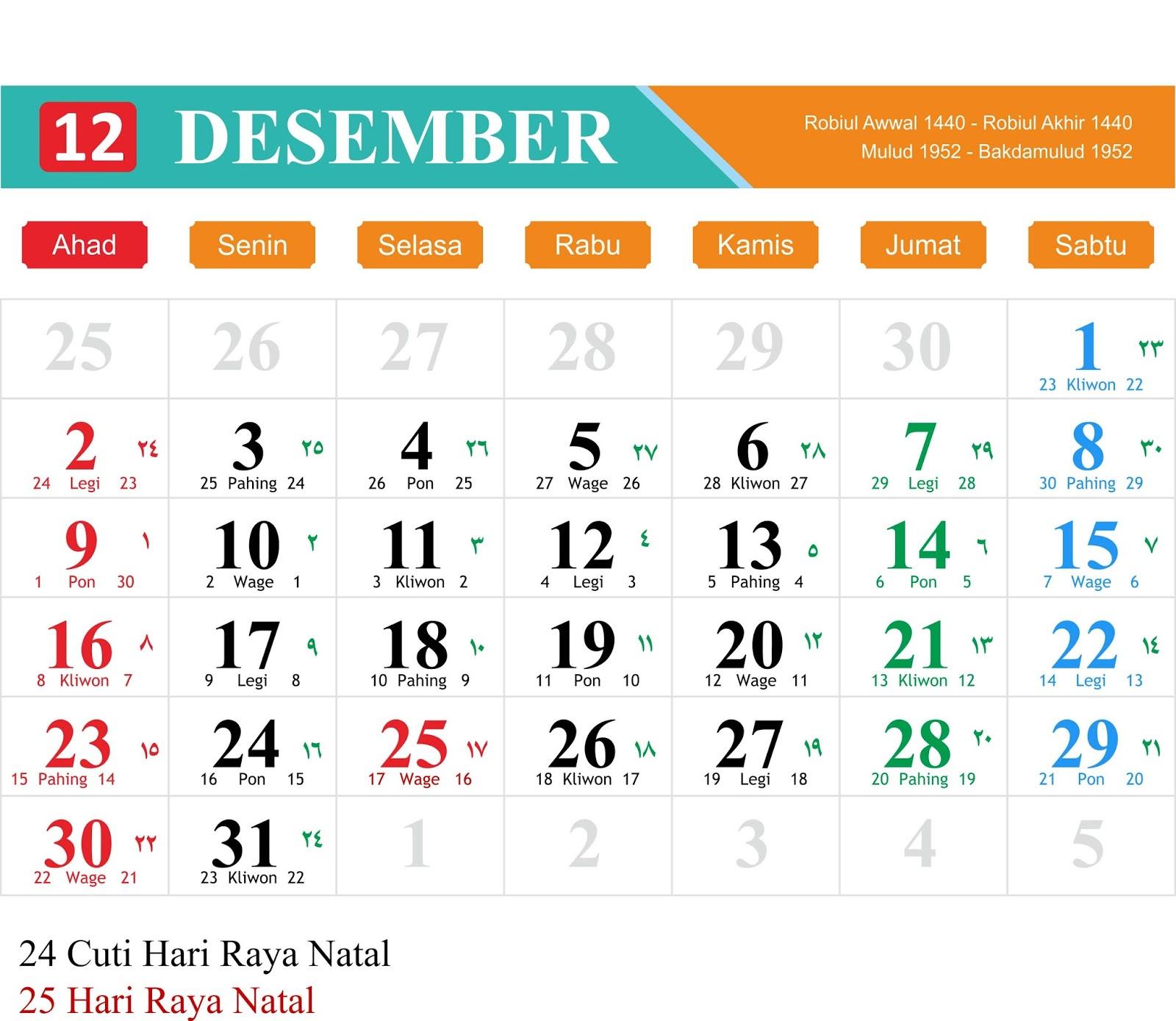 download kalender 2018 lengkap word