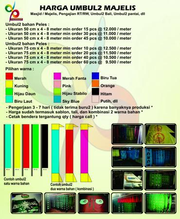 Harga Umbul Umbul Murah 081290743322 Dian Promosindo Sablon